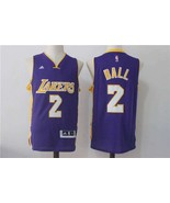 Nwt los angeles lakers lonzo ball jersey  2 yellow swingman stitched jerseys 1 thumbtall