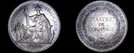 1893-A French Indo-China 1 Piastre World Silver Coin - Vietnam - $224.99