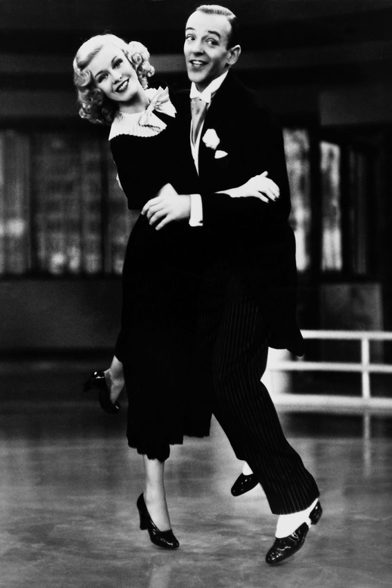 Primary image for Ginger Rogers Fred Astaire Classic Dancing Pose B/W Iconic Image 18x24 Poster