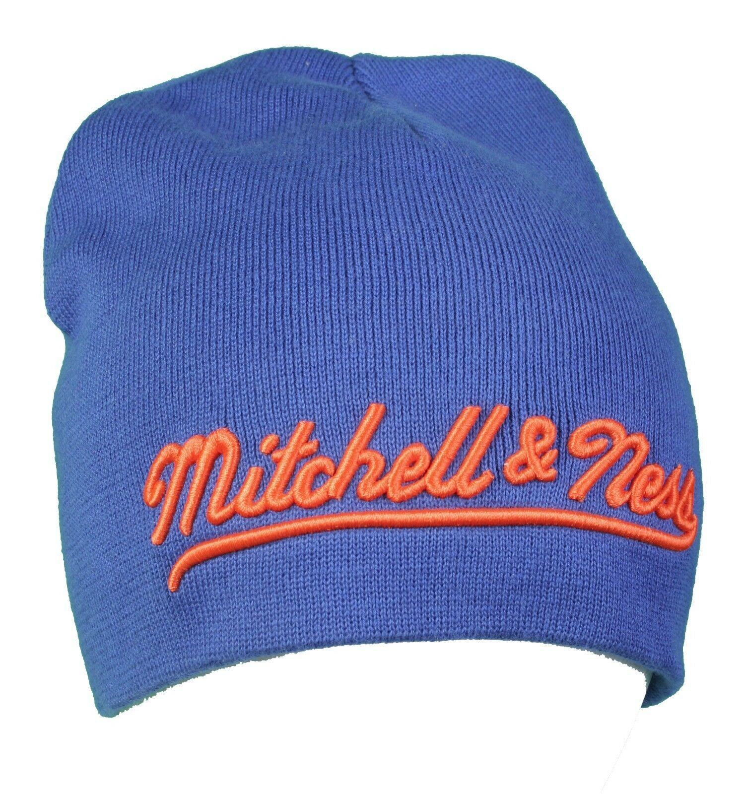 Mitchell & Ness Royal Blue Orange Est 1904  New York Knick Color-Way Beanie NWT