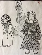 Stretch & Sew Sewing Pattern 905 Girls Peasant Dress Top Gown Chest 21-2... - $9.85
