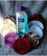 Clean & Clear Astringent and 16 Assorted Random Mix Crochet Scrubbers. - $19.00