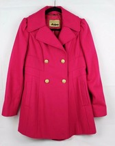 Guess Los Angeles women's coat peacoat wool double breasted lined size M - $60.76