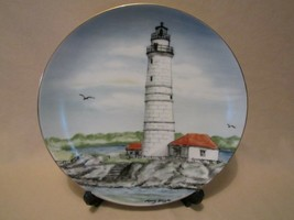 Boston Harbor Lighthouse Collector Plate Lefton Historic American Lighthouse - $24.99