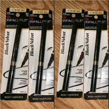 LOT OF 4 Loreal Infallible Black Velvet Liquid Eyeliner, 903 black - $19.75