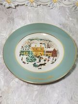Vintage 1980 Avon Plate Series 8th Edition Enoch Wedgwood Country Christmas  image 3