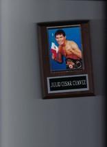 Julio Cesar Chavez Plaque Boxing Champion With Belt & Flag - $2.86