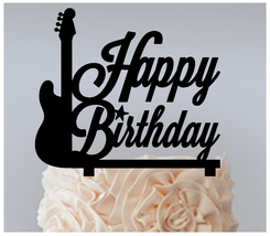 Ca450 Decorations Birthday Cake topper,Cupcake topper, guitar Package : ... - $20.00