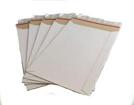"25 - 6x9 6""x9""  Stay Flat Rigid Mailer Cardboard White Envelope Photo 35... - $11.92"
