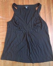 Apostrophe Sleeveless Shirt Women's Black Size L - $20.56