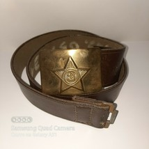 vintage Original Soviet Soldier Belt Military Russian Army Red Army USSR - $24.75