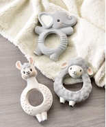 Lil'Lama Characters Natural Rubber Teething Rings, 3 assorted  - $19.99