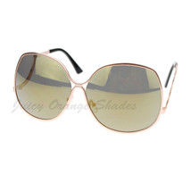 Womens Sunglasses Oversize Irregular Shape Low Rise Temple - $7.95