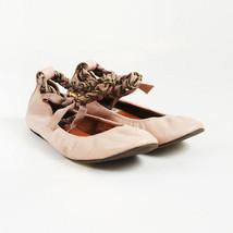 Lanvin Pink Leather Chain Ballet Flats SZ 35.5 - $145.00