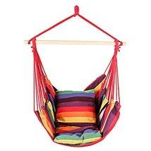 Bathonly Hanging Hammock Chair, Swing Chair with Two-Seat Cushions - $39.37