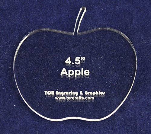 "Apple 4 1/2"" Height & Width - Clear 1/4"" Thick Acrylic - $15.99"