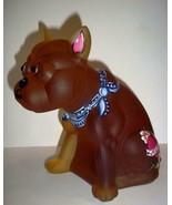 Amber Satin Glass French Bulldog Doorstop HP OOAK by Sunday Davis One of... - $193.67