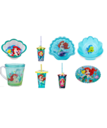 Disney Store Ariel Plate Cup Tumbler Water Bottle Bowl Placemat New - $36.95