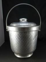 Mid Century aluminium Champagne ice bucket martelé made in Italy Design ... - $20.00