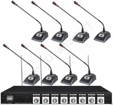 Professional Wireless Microphone Conference System 8 Table Meeting Room ... - $395.01