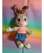 Disney Store Genuine Original Zootopia Young Judy Hopps Mini Bunny Plush - $11.83