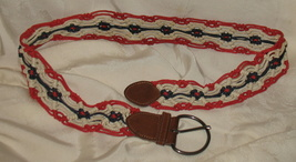 Red White Blue Adjustable Belt - $12.99
