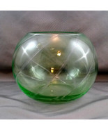 "Light Green Cut to Clear Crystal Rose Bowl  6"" Votive Tea Light - $11.88"