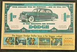 Vintage 1940's Dodge Newspaper Advertising Rare - $48.20