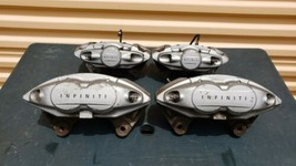 08-15 Infiniti G37 Oem Akebono Big Brake Front & Rear Calipers Bbk Ipl Q50 Q60