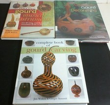 3 Big Hardcover Books on GOURDs Carving, Decorating, Making Musical Inst... - $21.73