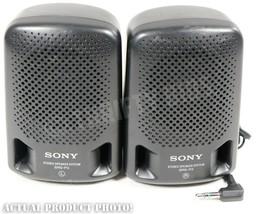 "Sony SRS-P3 Mini Portable 4"" Stereo Speaker System Speakers 8 Ohms Vintage - $14.84"