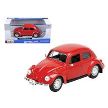 1973 Volkswagen Beetle Red 1/24 Diecast Model Car by Maisto 31926r - $27.72
