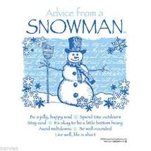 Snowman T-shirt Cotton Advice White NWT Short Sleeve Size Small Winter Fun - $18.88