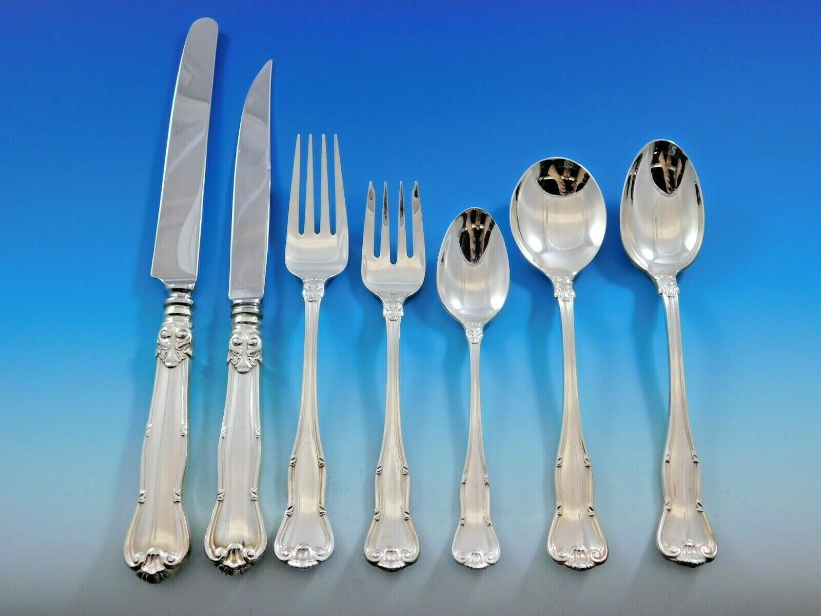 Primary image for Provence by Tiffany & Co. Sterling Silver Flatware Set 8 Service 56 pcs Dinner