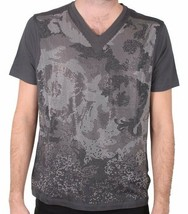 Versace Collection All Over Studded Men's V Neck Tee Grey NWT - $131.25
