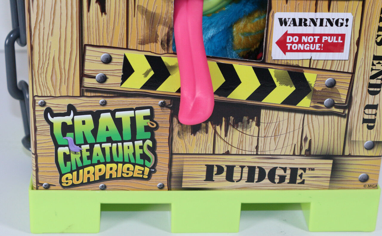 MGA Crate Creatures SURPRISE PUDGE BLUE YELLOW INTERACTIVE MONSTER Toy NEW