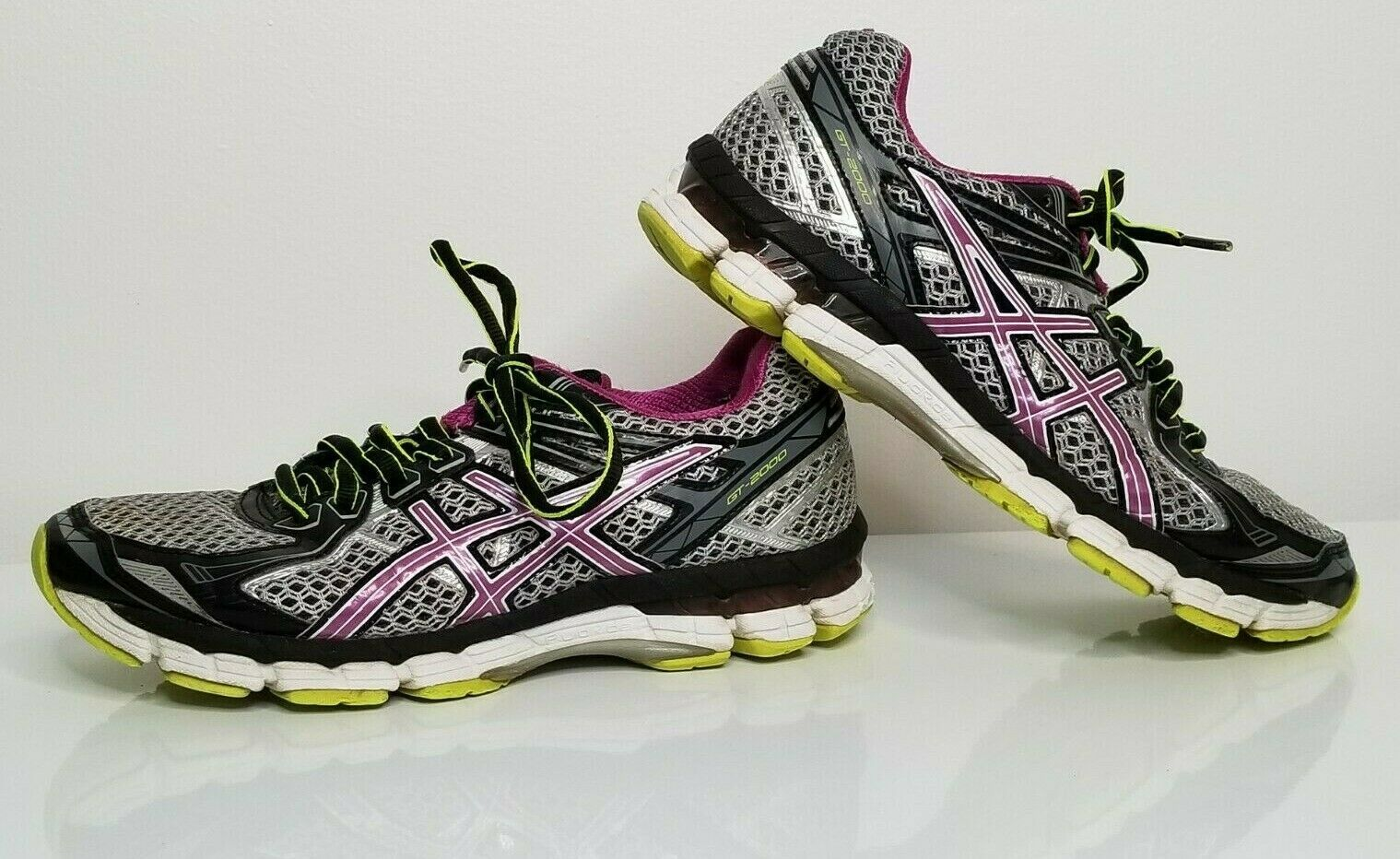 Primary image for ASICS Womens GT 2000 2 Gray Purple 7.5 Running Athletic Shoes Sneakers T3P8N