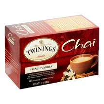 Twinings of London Chai French Vanilla Tea Bags, 20 Ct. 1.41 oz. - Pack ... - $27.08