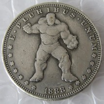 !!! The Hulk !!! Hobo Nickel 1888 Morgan Dollar Marvel Movie Avengers - $11.99