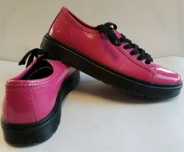 """Dr Doc Martens """"Spin"""" Low Top Oxfords Hot pink Patent Leather 6 Eye Wome... - $98.88"""