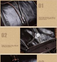 Fashion vintage women backpack daily school bag shoulder travel bag genuine leather 2 thumb200