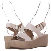 Steve Madden Senoraa Ankle Strap Wedge Platform Sandals 722, White, 7 US - $24.95