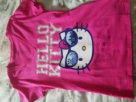 Rare T-SHORT Hello Kitty Pink Red Cotton - $5.93