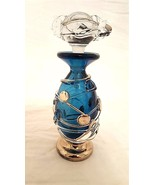 "Ion Tamaian Glass perfume bottle  ""Coins, Turquoise and Platinum"" signed... - $267.37"