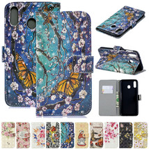 For Samsung Galaxy A20/A50 A30 A10 M10 M20 M30 Patterned Leather Wallet Cover - $59.75