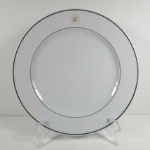 Williams Sonoma Grand Cuisine 1 Salad Plate Green Rim Gold Logo Apilco France - $32.99
