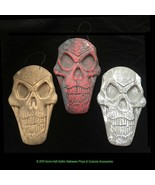 Dimensional SKELETON SKULL PLAQUE WALL SIGN Halloween Prop Crafts Decora... - $8.52