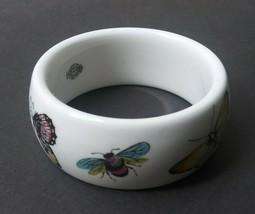 Kenneth J Lane Royal Worcester Fine Bone China Butterfly Bangle Bracelet... - $55.21