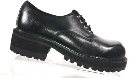 BED STU Men's Oxfords Size 8.5 M Black Leather Cobbler Goth Chunky Heel ... - $74.27