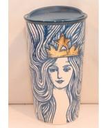 Starbucks Anniversary Blue Mermaid Siren Queen Ceramic Tumbler Travel Mu... - $49.99